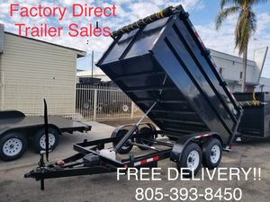 8x12x4 Dump Trailer with 6k axles and Tarp Kit for Sale in Anaheim, CA