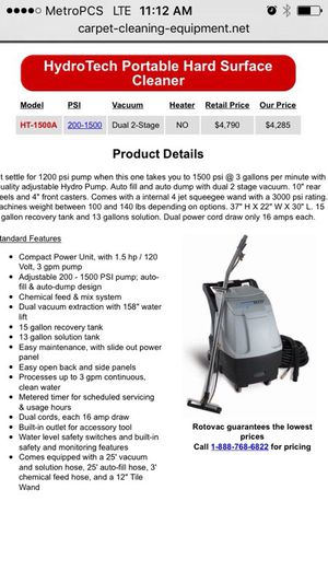 COMPLETE TILE & GROUT CLEANING EQUIPMENT PACKAGE PRICE REDUCE!!! for Sale in Boca Raton, FL
