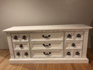 white distressed dresser for Sale in Fresno, CA