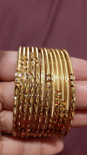 Artificial gold finished bangles for Sale in Framingham, MA