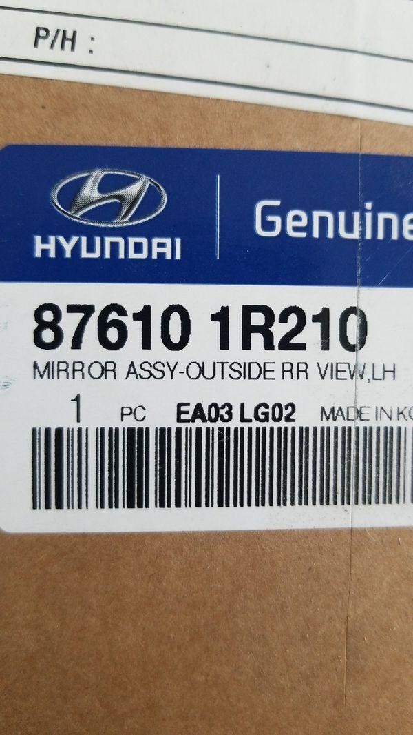 2012-2017 Hyundai accent passenger side mirror