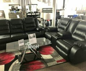 🍁SAMEDAY DELIVERY 🍃SPECIAL] Vacherie Black Reclining Living Room Set for Sale in Laurel, MD