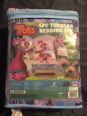 Brand new Trolls 4 piece toddler bedding for Sale in Webberville, TX