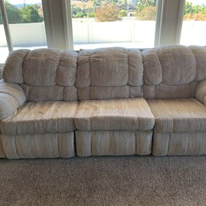3 Piece Reclining - Sofa Loveseat And Recliner Chair for Sale in El Cajon, CA