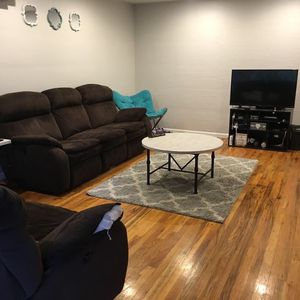 Electric Brown Fabric Couches for Sale in Mount Angel, OR