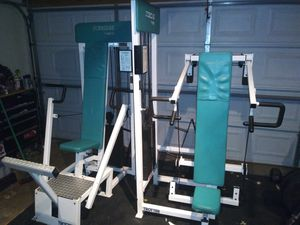 Shoulder press and a chest press with 200lb stacks for Sale in Elmhurst, IL