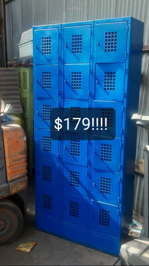 """EMPLOYEE LOCKERS $179!!! """"18"""" SECURITY SECTIONS $179!!! DODGER BLUE!!! WHOLESALE HURRY!!!...COMPANY PAID $450!!! HURRY for Sale in Santa Fe Springs, CA"""