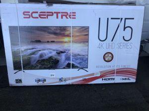 "75"" SCEPTRE U750CVUMR 4K UHD LED HD TV (FREE DELIVERY) for Sale in Lakewood, WA"