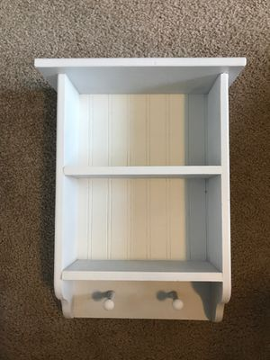 Small white wood shelf for Sale in Puyallup, WA