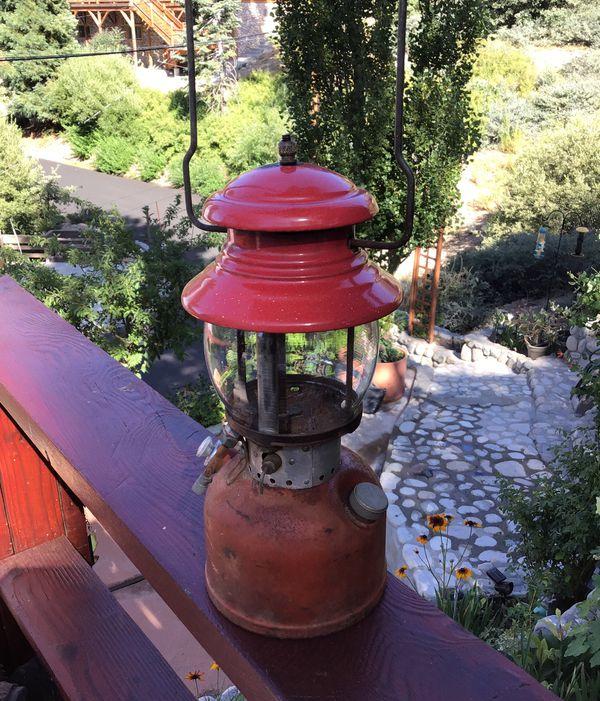 Vintage 1955 Red Colman Lantern 65.00 as is