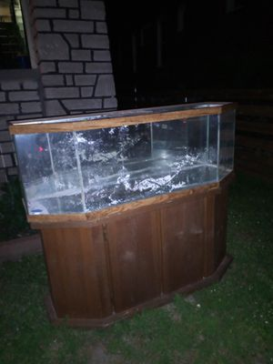 Fish Aquarium with wooden stand for Sale in St. Louis, MO
