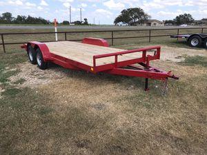 18x82 Wood deck car hauler for Sale in Austin, TX