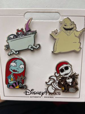 Nightmare Before Christmas Pin set - Jack Skellington, Sally, Oogie Boogie, Lock, Shock and barrel - Disney Authentic for Sale in Kissimmee, FL