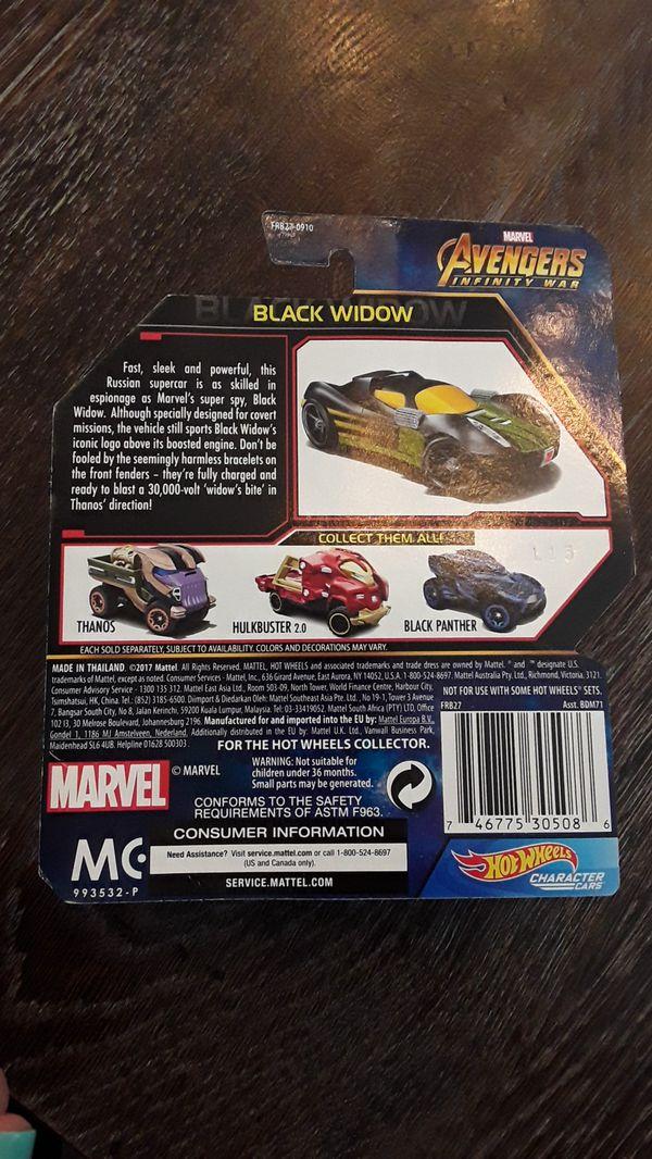 Marvel Avengers Infinity War Hot Wheels Charactor Cars