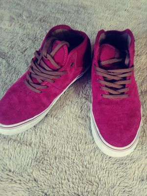 Red suede vans....nearly new size 7 for Sale in Carlsbad, CA