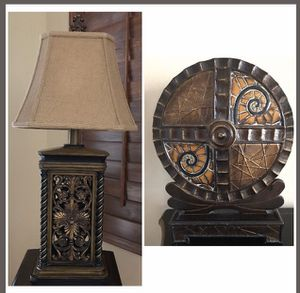 Scroll lamp and accent piece sold separately for Sale in Mesa, AZ