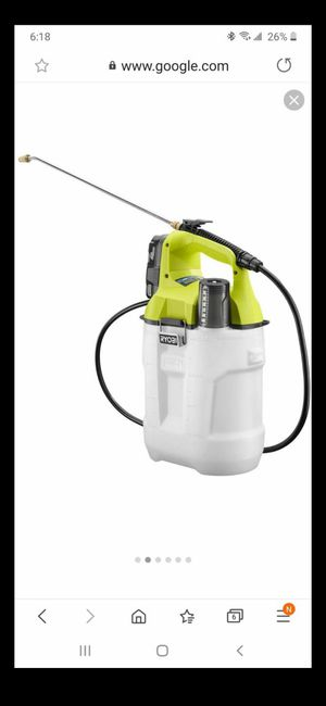 RYOBI ONE+ 18-Volt Lithium-Ion Cordless 2 Gal. Chemical Sprayer tool with battery and charger for Sale in Ontario, CA