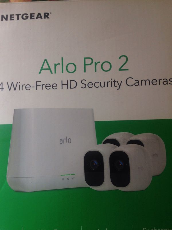 Arlo Pro 2 4 wire free HD security cameras