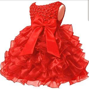 Red Flower girl infant dress for Sale in Bridgeport, CT