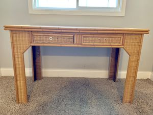 Wicker Desk and Nightstand for Sale in Chicago, IL