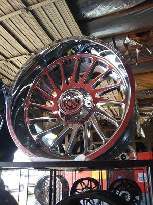 22X12 chrome scorpion rims 33 X 12.50 R 22 mt for Sale in Phoenix, AZ