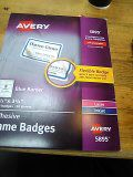 Avery 5895 adhesive name badges 2 1/3 by 3 3/8 for Sale in Denver, CO