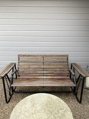 Solid wood rocker bench for Sale in Burleson, TX