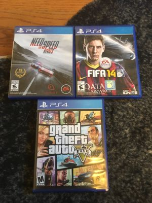 PS4 Games, Fifa14, GTA 5, Need for Speed Rivals for Sale in Chula Vista, CA