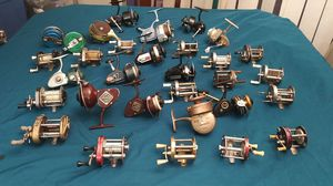Antique fishing reel collection & fly rods for Sale in Texas City, TX