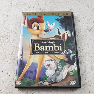Bambi (DVD, 2005, 2-Disc Set, Special Edition/Platinum Edition). Condition is Very Good for Sale in Los Angeles, CA