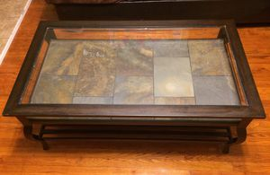 Glass-top coffee table and two end tables for Sale in Ephrata, PA