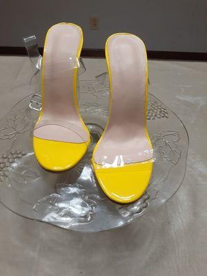 Yellow platform heels for Sale in Lithonia, GA