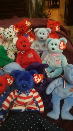 Beanie babies all bears some are collector bears for Sale in Newport, TN