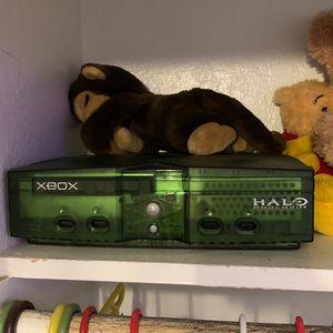 Original Xbox Halo Edition Green Console Complete for Sale in Santa Maria, CA