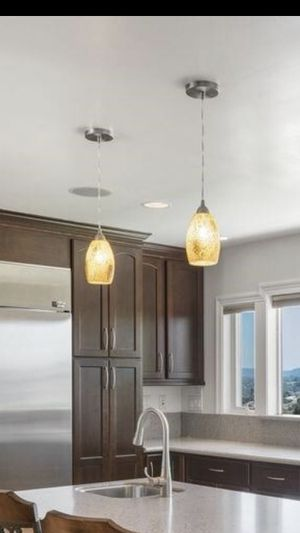 2 Glass Pendant Lights for Sale in San Diego, CA