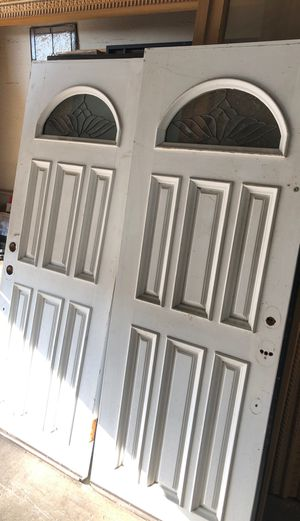 """Like new solid wood double doors 60"""" x 80"""" rough size for Sale in Los Angeles, CA"""