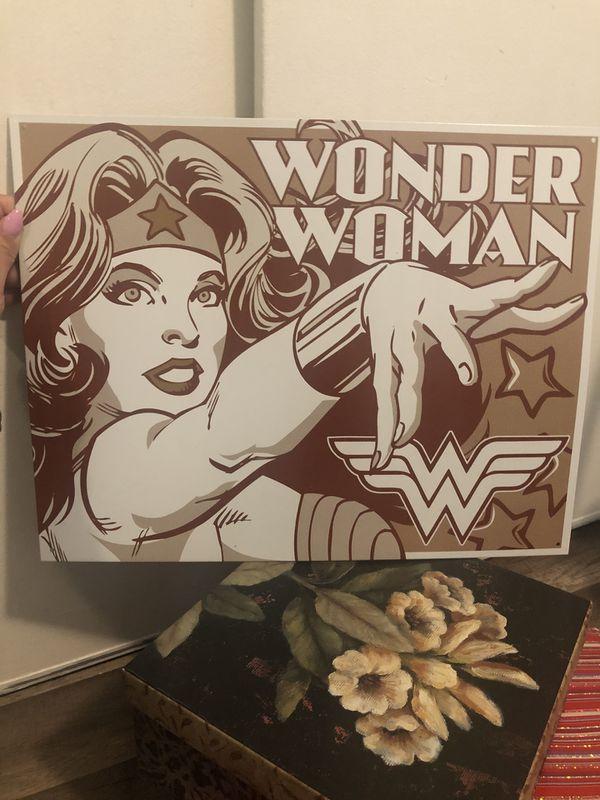 Wonder Woman metal poster, wall decor