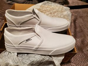 New White Women's Vans sz 7 for Sale in West Covina, CA
