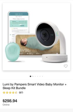 Lumi By Pampers Smart Video Baby Monitor + Sleep Kit Bundle for Sale in Covina, CA