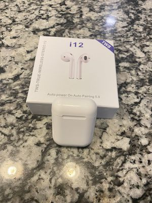 TWS i12 Bluetooth Earbuds for Sale in San Antonio, TX
