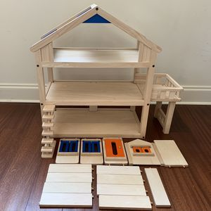 Doll House Wooden With Balcony, Stairs, Windows, Door And Partitions for Sale in Phoenix, AZ