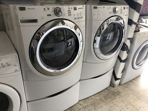 Maytag Front Load Washer and Gas Dryer W Pedestals for Sale in San Diego, CA