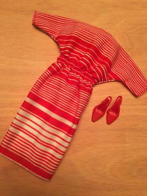 Vintage Mattel Barbie 3636 Best Buy Fashions Red Stripe Dress for Sale in Westminster, CA