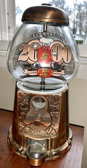 JELLY BELLY CELEBRATION 2000 LIMITED ED. GUMBALL DISPENSER MACHINE METAL W GLASS for Sale in Belmont, NC