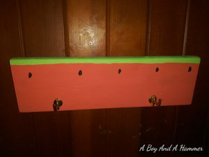 Handcrafted watermelon wall display w/ hooks for Sale in Valley Grande, AL
