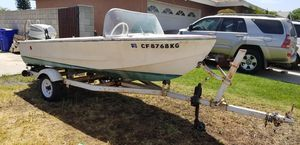 14 ft Glasspar boat and trailer with Evinrude outboard motor for Sale in HUNTINGTN BCH, CA
