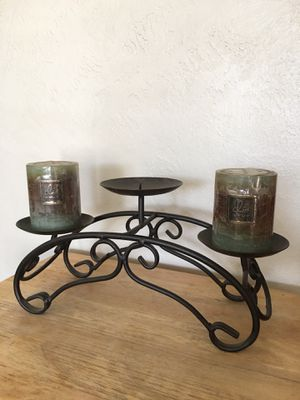 ROD IRON CANDLE HOLDER WITH NEW CANDLES for Sale in Fresno, CA