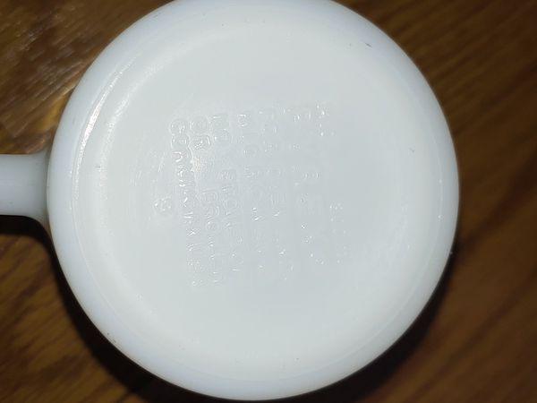 Pyrex Cups Milk Glass Coffee Daisey Mugs Flower