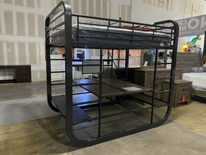 Brand new full full bunk bed. Bottombunk can be converted to work station. Mattresses sold separate for Sale in Palm Springs, FL