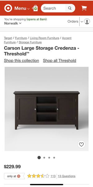 Carson Large Storage Credenza - Threshold for Sale in Downey, CA